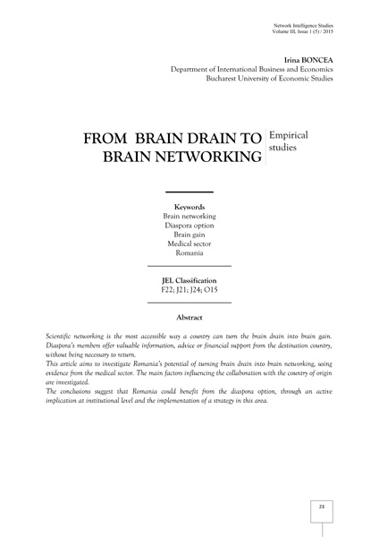 Volume III, Network Intelligence Studies
